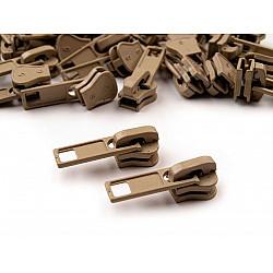 Cursor fermoar injectat, 5 mm (pachet 10 buc.) - Prairie Sand