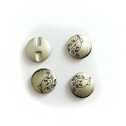 Nasturi cu picior - Argintiu cu flori, 22mm