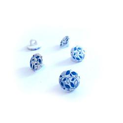 Nasturi cu picior - Flori albastre, 12mm