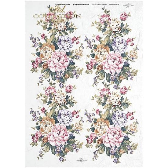 Hartie de orez A4 - decorațiuni florale de masă, diferite tipuri de flori