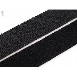 Bandă arici/velcro cu două feţe, negru, 20 mm