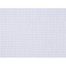 Etamină pentru brodat, lățime 140 cm 80 cusături, alb
