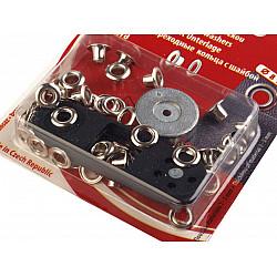 Ocheți metalici inoxidabili cu dispozitiv de atașare, Ø4 mm - nichel