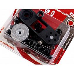 Ocheți metalici inoxidabili cu dispozitiv de atașare, Ø4 mm - nichel negru