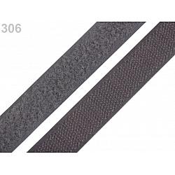 Arici/velcro, complet (puf + scai), 20 mm - Gri