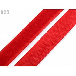 Arici/velcro, complet (puf + scai), 20 mm - Rosu