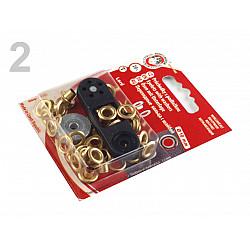 Ocheți metalici inoxidabili cu dispozitiv de atașare, Ø5,5 mm - Auriu