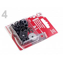 Ocheți metalici inoxidabili cu dispozitiv de atașare, Ø5,5 mm - Nichel negru