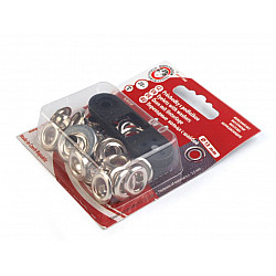 Ocheți metalici inoxidabili cu dispozitiv de atașare, Ø7 mm - Nichel