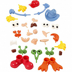 Partile corpului, dimensiuni 0,8-6,8 cm, culori asortate, 26 buc-asortate