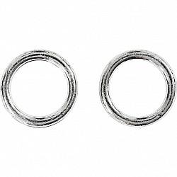 Anou plastic, D: 15mm (ext), D: 11mm (int)  - Argintiu, 1 Buc.