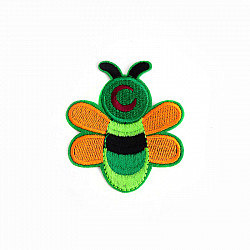 Aplicatie termoadeziva - Albinute colorate - 14x12  cm
