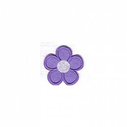 Aplicatie termoadeziva - Floare lila - 5cm