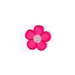Aplicatie termoadeziva - Floare magenta - 5cm