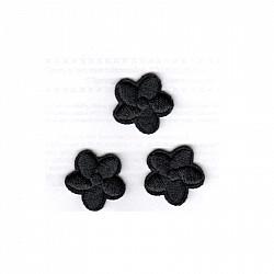 Aplicatie termoadeziva - Flori Negre - 2.5 cm