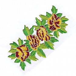 Aplicatie termoadeziva - Sirag flori - 18.5x10cm