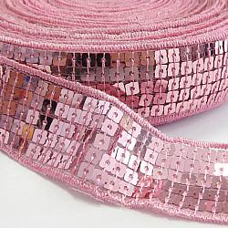 Banda cu paiete, 2.5 cm - Roz