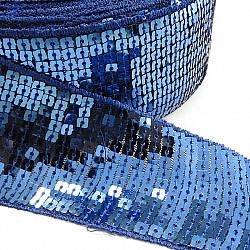Banda cu paiete, 5 cm - Albastru