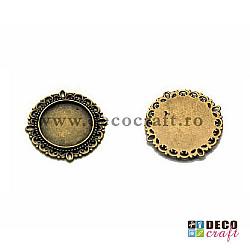Baza cabochon rotund - 2cm, 4buc