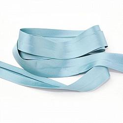 Bias uni, satin - Bleu - 1.5cm