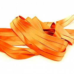 Bias uni, satin - Orange - 1.5cm