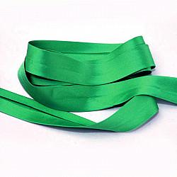 Bias uni, satin - Verde - 1.5cm