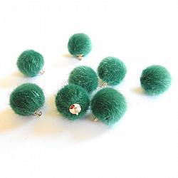 Bila puf cu agatatoare, 2cm - Verde