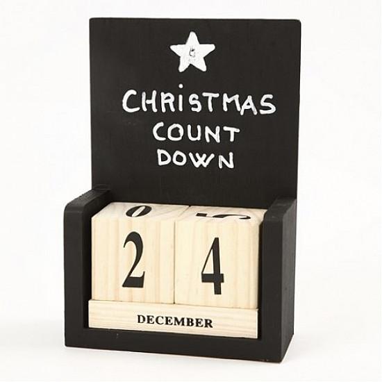 Calendar cu cuburi pentru data, dimensiune 13x5,5x19,2 cm, lemn de plop, 1set