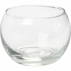 Candela sticla, D: 8 cm, H: 7 cm, 12 Buc.
