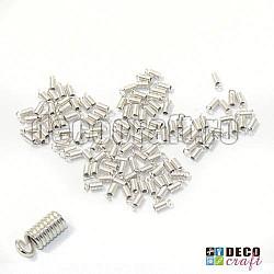 Capat alb-argintiu pentru snur - 30g