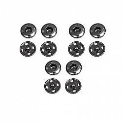 Capse pentru cusut - Negru - 10 mm, 6 buc.