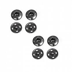 Capse pentru cusut - Negru - 13.5mm, 4 buc.