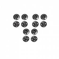 Capse pentru cusut - Negru - 8mm, 6 buc.