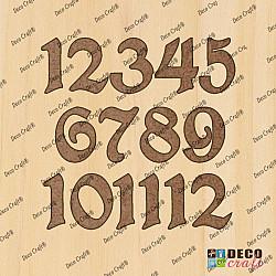 Cifre ceas, din lemn - Lexi L - 4cm