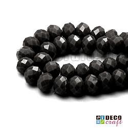 Cristale abacus - Negru - 8mm, 60 buc