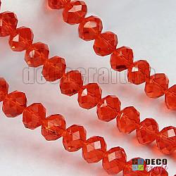Cristale abacus - Rosu - 6mm, 80 buc