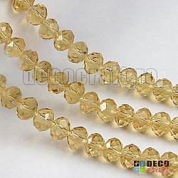 Cristale abacus - Topaz-deschis PLP - 6mm, 80 buc