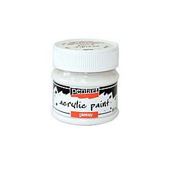 Culoare acrilica lucioasa - 50 ml - Alb