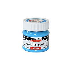Culoare acrilica lucioasa - 50 ml - Albastru-deschis