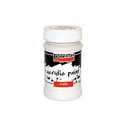 Culoare acrilica mata - 100 ml - Alb