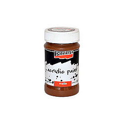 Culoare acrilica mata - 100 ml - Maro-deschis