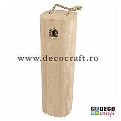 Cutie din lemn natur, pentru sticla
