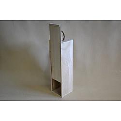 Cutie din lemn natur, pentru sticla cu usa culisanta 35*10,5*9,5 CM