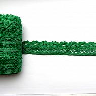 Dantela bumbac - Verde, 28mm