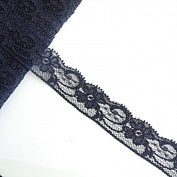 Dantela sintetica 2.5 cm - Bleumarin