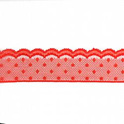 Dantela sintetica - Rosu - 4 cm