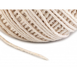 Sfoară bumbac, Ø1.5 mm (rola 70 m) - ecru deschis