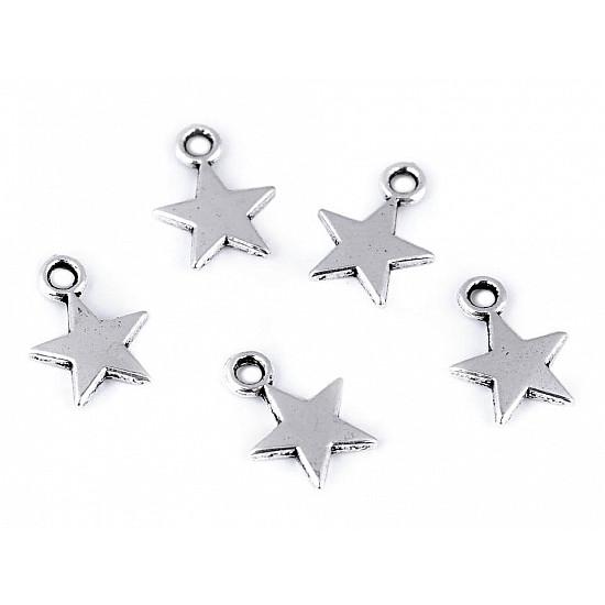 Pandantiv steluță, Ø10 mm (pachet 10 buc.)