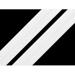 Bias elastic 18 mm (pachet 5 m) - alb