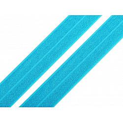 Bias elastic 18 mm (pachet 5 m) - albastru azur